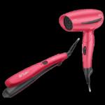 Arzum AR591 Pink Saç Kurutma Makinesi ve Saç Düzleştirici Set