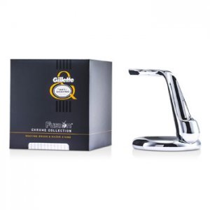 The Art Of Shaving Fusion Chrome Collection Shaving Brush & Razor Stand 2pcs