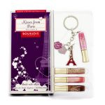 Bourjois Kisses From Paris Volume 2 Lipgloss Set: 4x Effect 3D Mobile Lipgloss + Cell Phone Charm 5pcs