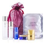 Shiseido Promotion Set: Lotion 75ml + Moisturizer 30ml + Cleansing 20ml + Sunscreen SPF 50 12ml + Revital Cream 6ml + Mask 6pcs