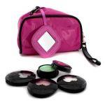 Anna Sui Eye Color Set: 3x Eye Color Accent + 1x Eye Gloss + Pink Cosmetic Bag 4pcs+1bag
