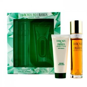 En Ucuz Elizabeth Taylor Diamonds & Emeralds Coffret: Eau De Toilette Spray + Perfumed Body Lotion 2pcs Fiyatı