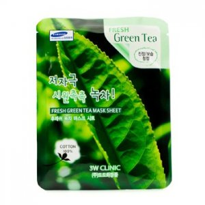3W Clinic Mask Sheet - Fresh Green Tea 10 adet